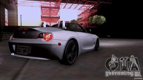 BMW Z4 V10 для GTA San Andreas вид сзади