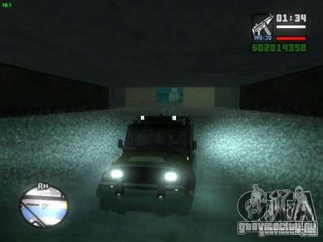 УАЗ Hunter для GTA San Andreas вид сзади слева