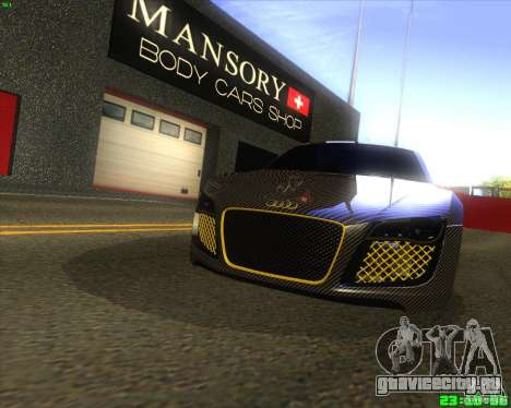 Audi R8 Mansory для GTA San Andreas вид слева