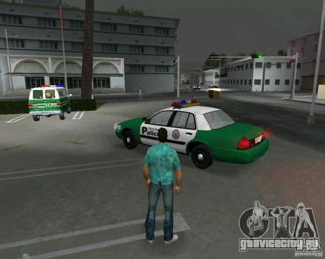 Ford Crown Victoria 2003 Police для GTA Vice City вид сзади слева