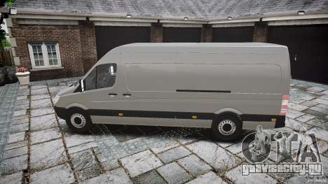 Mercedes Benz Sprinter Long Version для GTA 4 вид слева