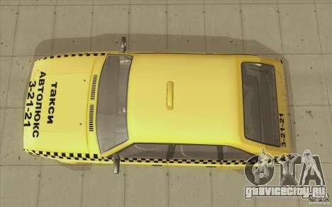 АЗЛК 2141 Москвич Такси v2 для GTA San Andreas вид справа