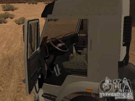 КамАЗ 6460 для GTA San Andreas вид изнутри
