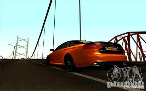 Audi RS6 Black Edition для GTA San Andreas вид сзади слева