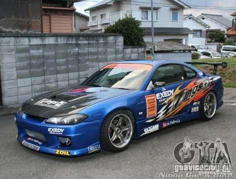 Nissan Silvia INGs +1 для GTA San Andreas вид изнутри