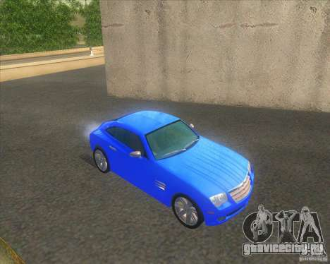Chrysler Crossfire для GTA San Andreas вид справа