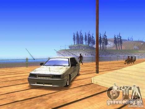 VAZ 2115 для GTA San Andreas вид сзади