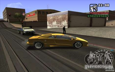 Lamborghini Diablo SV для GTA San Andreas вид сзади слева