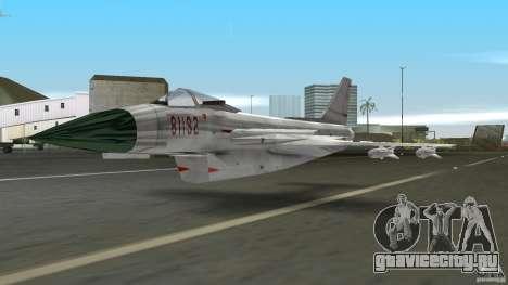 J-10 для GTA Vice City вид слева