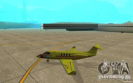 Shamal 1.0 Final для GTA San Andreas вид сзади слева