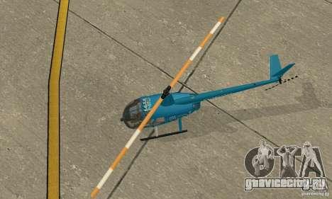 Robinson R44 Raven II NC 1.0 телевидение для GTA San Andreas вид сзади