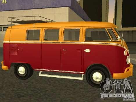 Volkswagen Transporter T1 Camper для GTA San Andreas вид слева