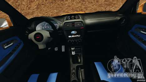 Subaru Impreza WRX STI 2005 для GTA 4 вид сзади