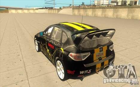 Subaru Impreza WRX STi с новыми винилами для GTA San Andreas