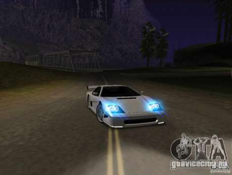 Azik Turismo для GTA San Andreas вид слева