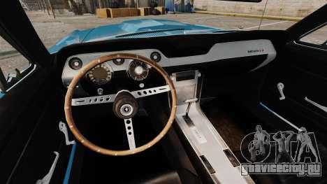 Ford Mustang Customs 1967 для GTA 4 вид сбоку