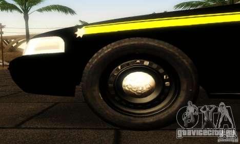 Ford Crown Victoria Montana Police для GTA San Andreas вид справа