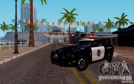 Ford Shelby Mustang GT500 Civilians Cop Cars для GTA San Andreas вид слева