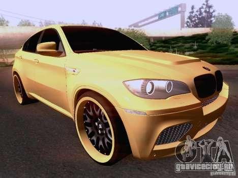 BMW X6M Hamann для GTA San Andreas вид слева