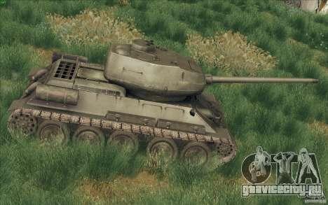 Т-34-85 из игры COD World at War для GTA San Andreas вид слева