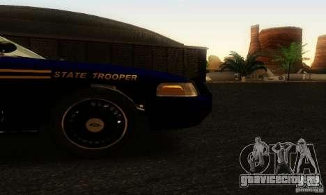 Ford Crown Victoria Orgeon Police для GTA San Andreas вид справа