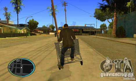 Shopping Cart Faggio V2 для GTA San Andreas вид сзади