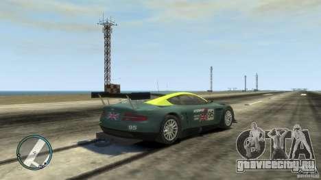 Aston Martin DBR9 для GTA 4 вид справа
