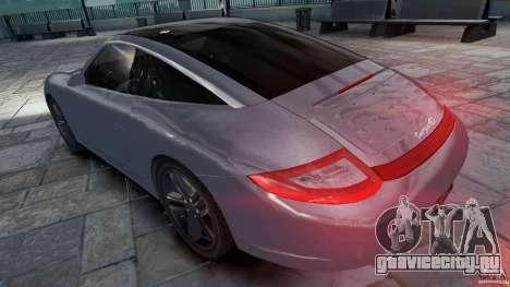 Porsche Targa 4S 2009 для GTA 4 вид слева