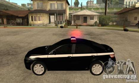 Toyota Camry 2010 SE Police RUS для GTA San Andreas вид слева