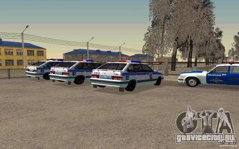 Ваз 2114 ОВО Полиция для GTA San Andreas вид слева