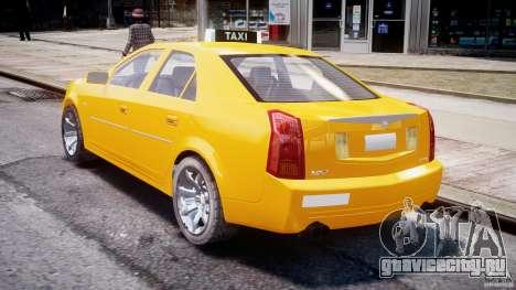 Cadillac CTS Taxi для GTA 4 вид сбоку