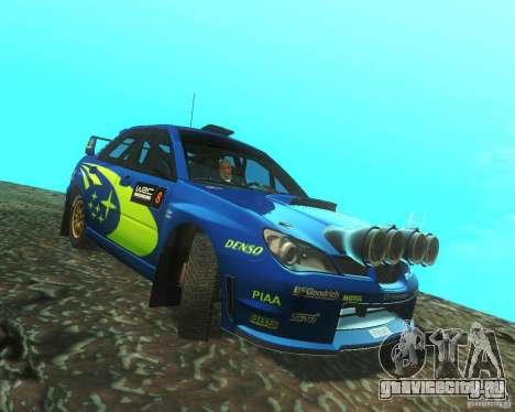 Subaru Impreza WRX STI DIRT 2 для GTA San Andreas вид сзади