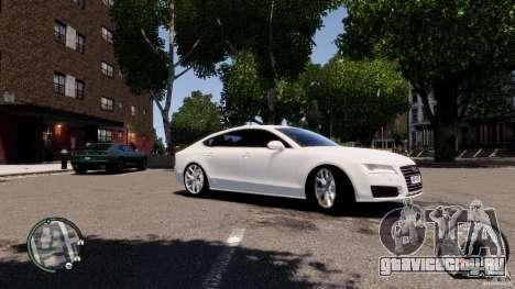 Audi A7 Sportback для GTA 4 вид изнутри