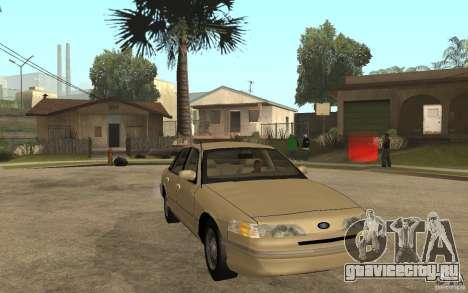 Ford Crown Victoria LX 1992 для GTA San Andreas вид сзади