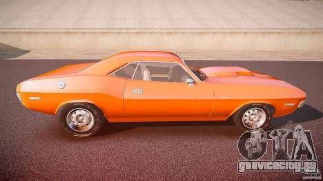 Dodge Challenger v1.0 1970 для GTA 4 вид сбоку