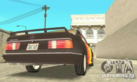 Mercedes-Benz W126 560SEC для GTA San Andreas