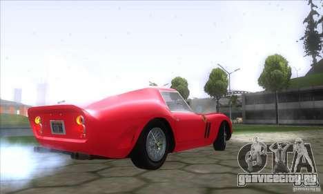 Ferrari 250 GTO 1962 для GTA San Andreas вид сзади слева