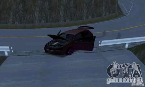 Volkswagen Golf V JDM Style для GTA San Andreas вид изнутри