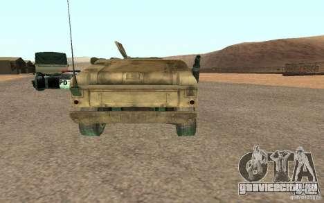 Hummer Spec Ops The Line для GTA San Andreas вид сзади слева