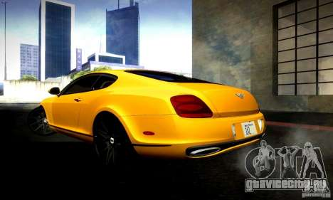 Bentley Continental Supersports для GTA San Andreas вид сзади