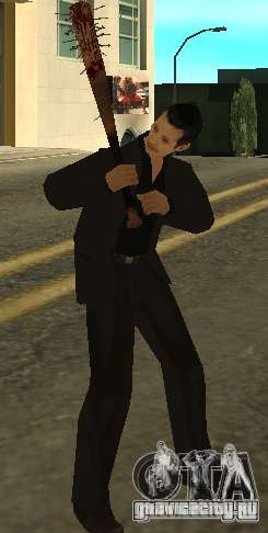 Кровавая бита с гвоздями HD для GTA San Andreas третий скриншот