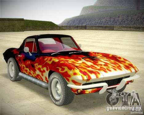 Chevrolet Corvette Stingray для GTA San Andreas вид сзади