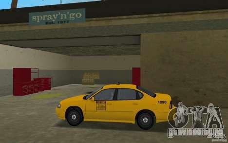 Chevrolet Impala Taxi для GTA Vice City вид слева