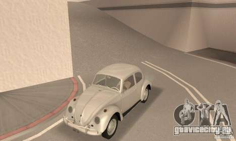 Volkswagen Beetle 1963 для GTA San Andreas вид сзади