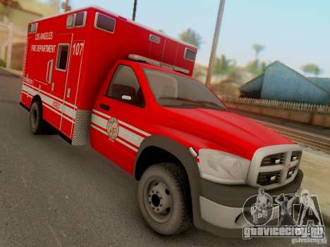 Dodge Ram 1500 LAFD Paramedic для GTA San Andreas вид сзади