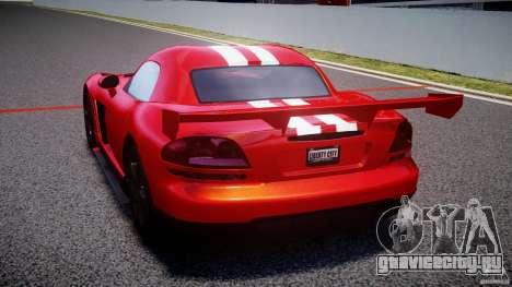 Dodge Viper RT 10 Need for Speed:Shift Tuning для GTA 4 вид сзади слева