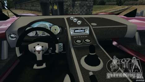 K-1 Attack Roadster v2.0 для GTA 4 вид сзади
