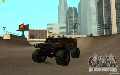 Hummer H1 Humster для GTA San Andreas вид сзади слева