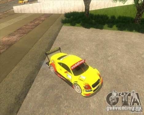 Audi TTR DTM racing car для GTA San Andreas вид сзади слева