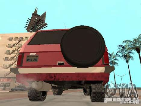 Новый Huntley для GTA San Andreas вид справа